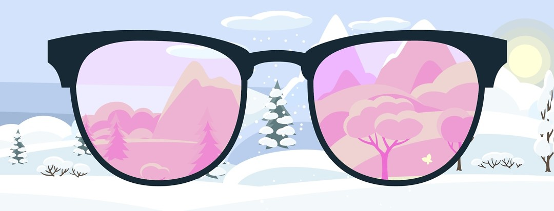 Rose colored glasses making winter look like spring