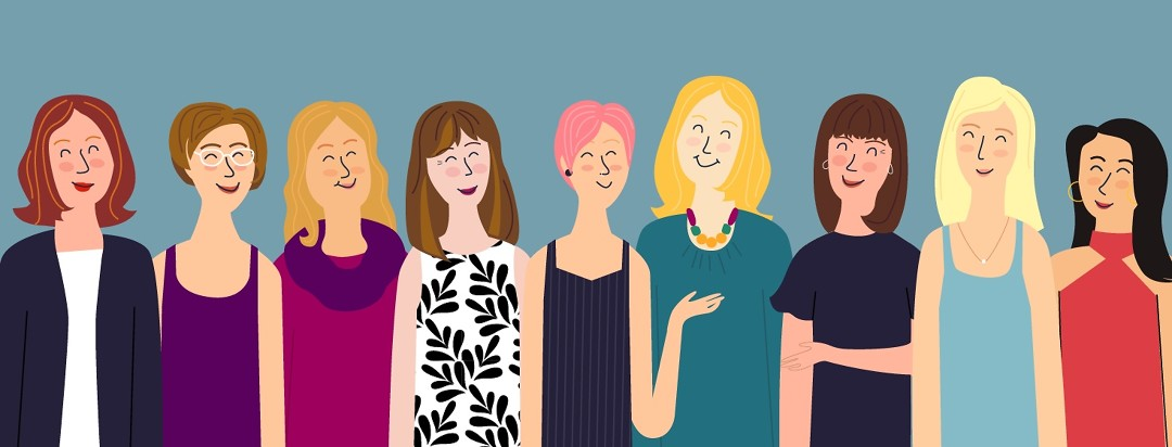 A group illustration of the advocates on AdvancedBreastCancer.net