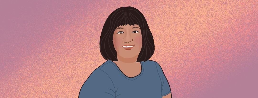 A portrait of advocate Rachelle