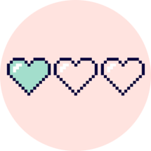 Three hearts next to each other, two are empty and one is full