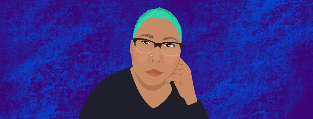 A portrait of community member Roxana