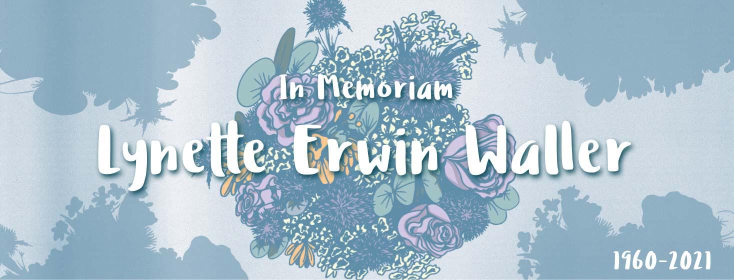 In Memory Bouquet for advocate Lynette Erwin Waller.
